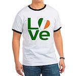 Green Irish Love Ringer T