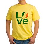 Green Irish Love Yellow T-Shirt