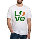 Green Irish Love Fitted T-Shirt