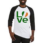 Green Irish Love Baseball Jersey