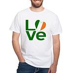 Green Irish Love White T-Shirt