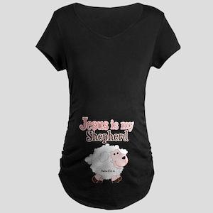 Jesus Is Shepherd Maternity Dark T-Shirt