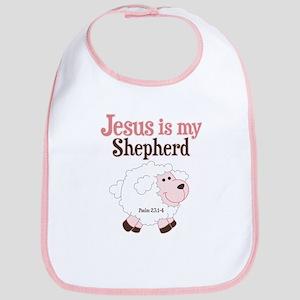 Jesus Is Shepherd Cotton Baby Bib