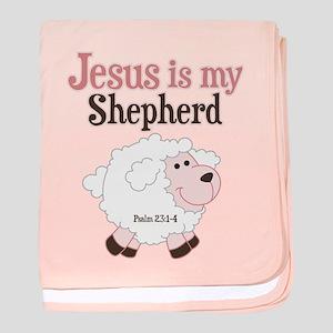Jesus Is Shepherd baby blanket