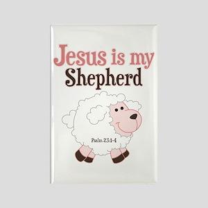 Jesus Is Shepherd Rectangle Magnet