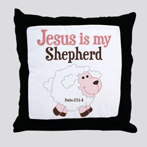 Jesus Is Shepherd Throw Pillow