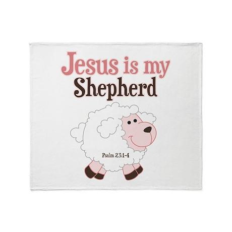 Jesus Is Shepherd Throw Blanket