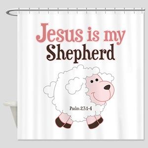 Jesus Is Shepherd Shower Curtain