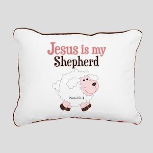 Jesus Is Shepherd Rectangular Canvas Pillow