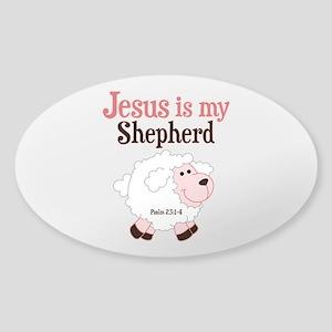 Jesus Is Shepherd Sticker (Oval)