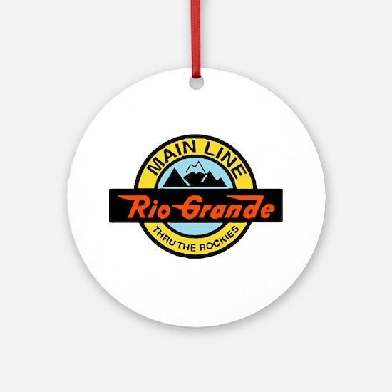 Rio Grande Rockies Railway Round Ornament