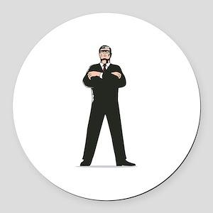 Secret Service Agent Body Guard Round Car Magnet