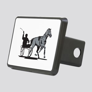 Horse and Jockey Harness Racing Rectangular Hitch