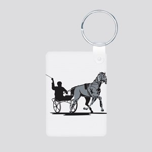 Horse and Jockey Harness Racing Aluminum Photo Key
