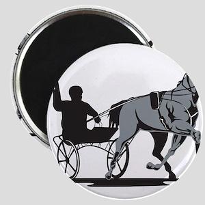 Horse and Jockey Harness Racing Magnet