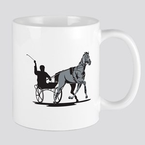Horse and Jockey Harness Racing Mug