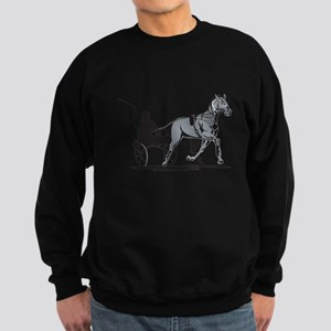 Horse and Jockey Harness Racing Sweatshirt (dark)