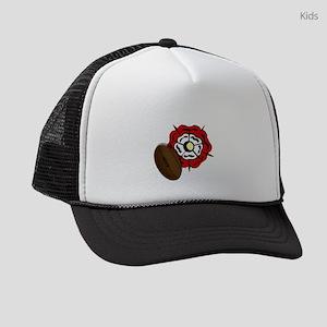 England Rose Rugby Kids Trucker hat