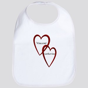 Vincent and Catherine Two Hearts Bib