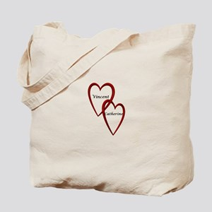Vincent and Catherine Two Hearts Tote Bag