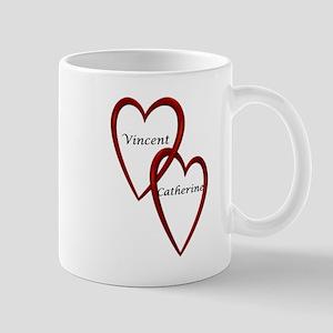 Vincent and Catherine Two Hearts Mug
