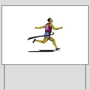 Marathon Runner Athlete Running Finish Line Yard S