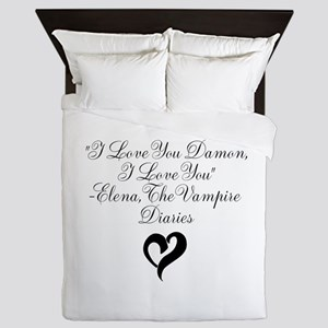 Elena Loves Damon, Black Queen Duvet