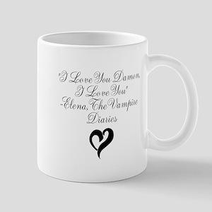 Elena Loves Damon, Black Mug