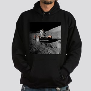 Eugene an on Lunar Rover, Apollo 17 - Hoodie (dark