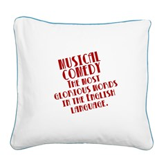 Musical Comedy Square Canvas Pillow