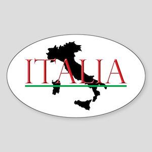 Italia: Italian Boot Sticker (Oval)