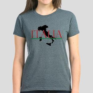 Italia: Italian Boot Women's Dark T-Shirt