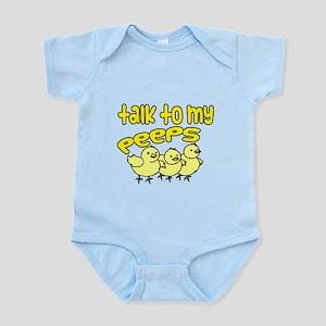 talk to my peeps Infant Bodysuit
