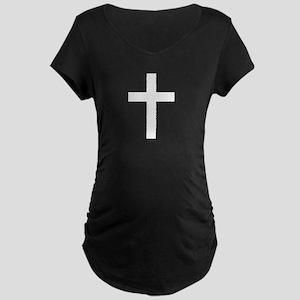 Holy Christian Cross Maternity Dark T-Shirt