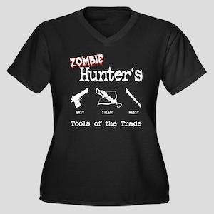 Zombie Hunters Women's Plus Size V-Neck Dark T-Shi