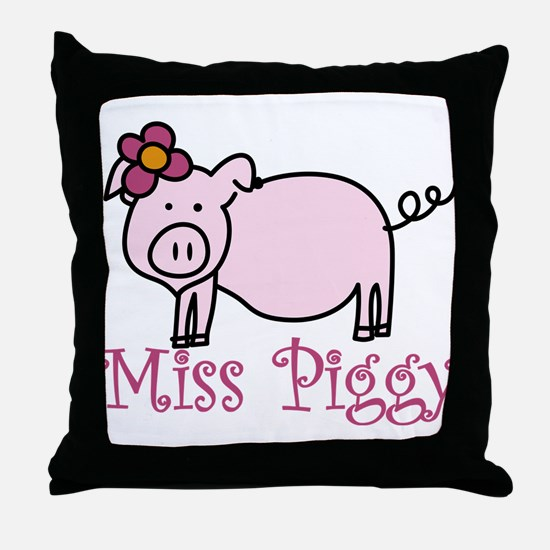 Miss Piggy Throw Pillow