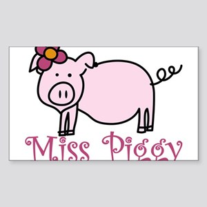 Miss Piggy Sticker (Rectangle)