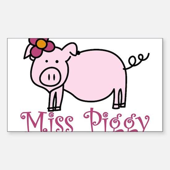Miss Piggy Sticker (Rectangle)