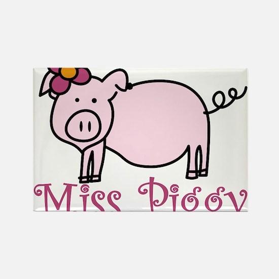 Miss Piggy Rectangle Magnet