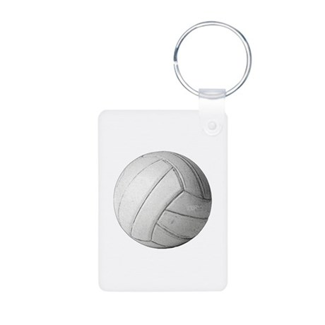 Simply Volleyball Aluminum Photo Keychain