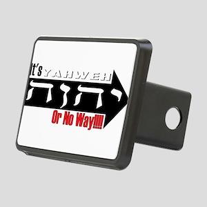 Yahweh or No Way Rectangular Hitch Cover