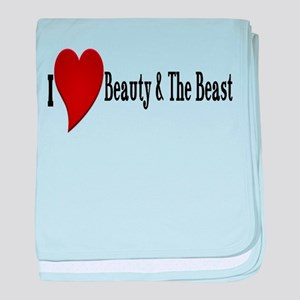 Beauty and The Beast Heart Design baby blanket