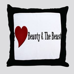 Beauty and The Beast Heart Design Throw Pillow