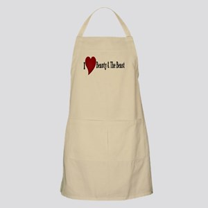 Beauty and The Beast Heart Design Apron