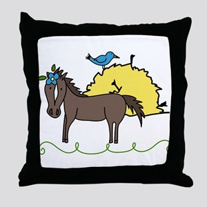 Hungry for Hay Throw Pillow
