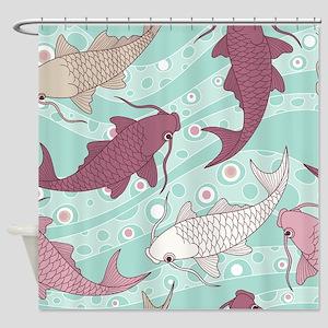 Chinese Carp Shower Curtain