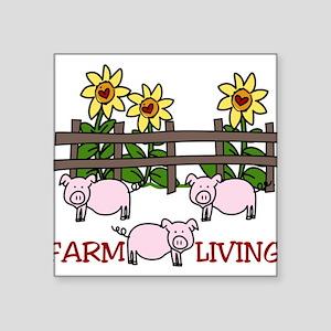 "Farm Living Square Sticker 3"" x 3"""
