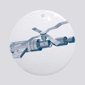 Skylab Space Station Satellite Ornament (Round)