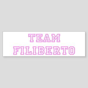 Pink team Filiberto Bumper Sticker