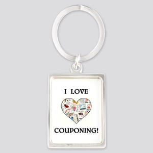 I LOVE COUPONING! Portrait Keychain
